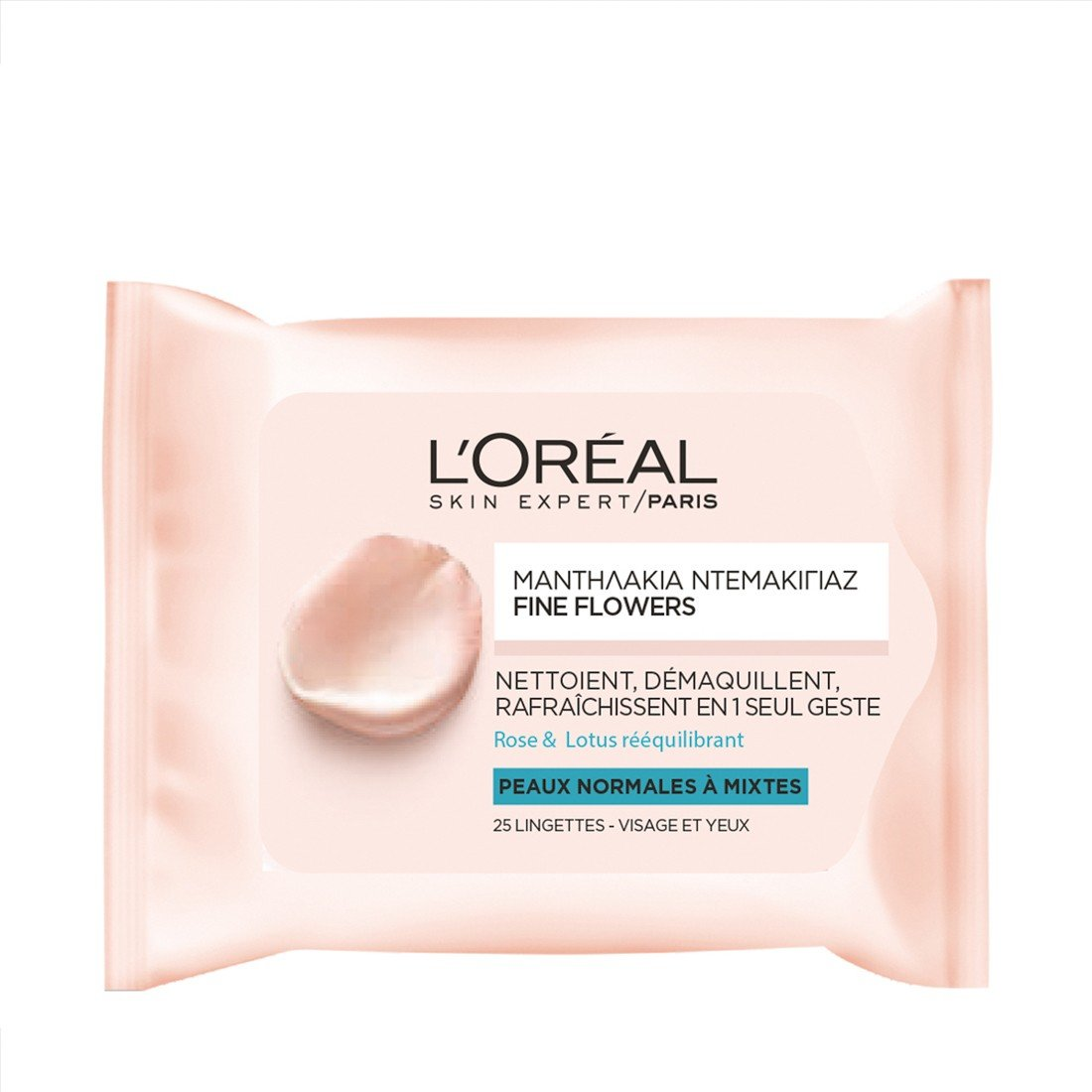 L'OREAL PARIS FINE FLOWERS CLEANSING WIPES NORMAL TO COMBINATION SKIN