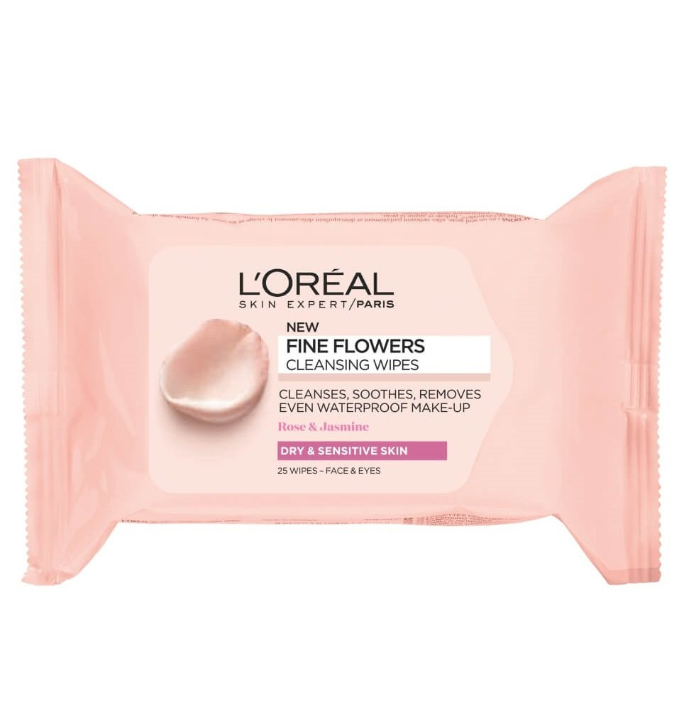FINE FLOWERS CLEANSING WIPES DRY & SENSITIVE SKIN