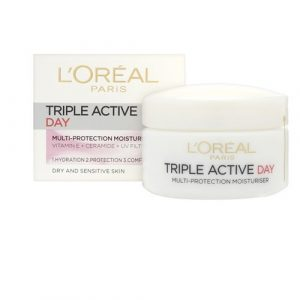 L'OREAL PARIS TRIPLE ACTIVE 24H HYDRATION FOR DRY/SENSITIVE SKINS
