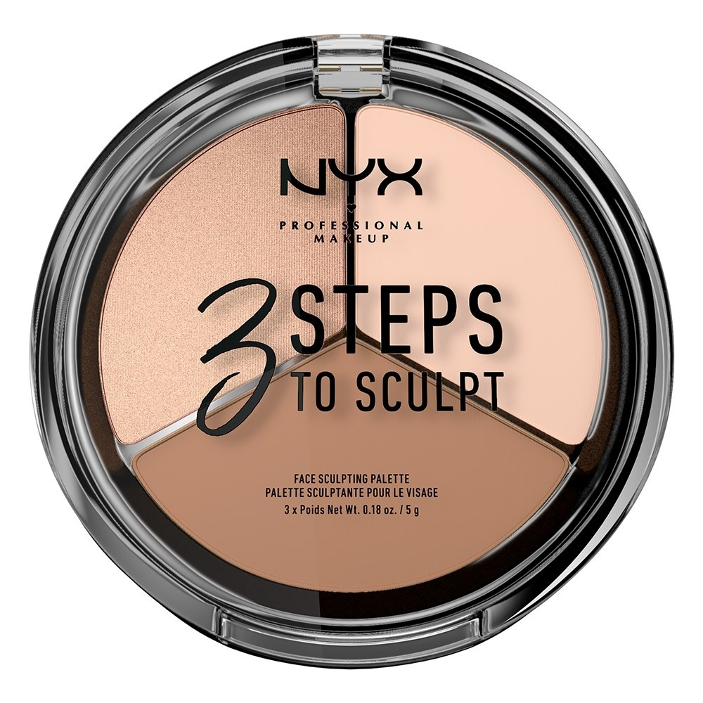NYX 3 Steps to Sculpt Face Sculpting Palette