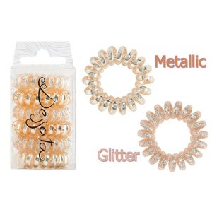 DESSATA Rose Gold Hair Ties X6