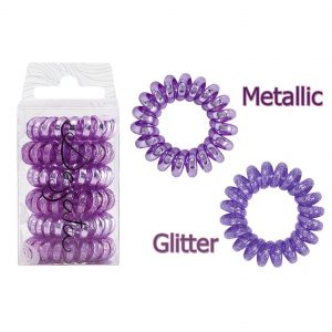 DESSATA Purple Hair Ties X6