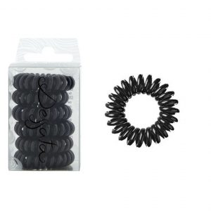 DESSATA Black Hair Ties X6