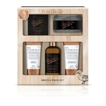 B&H THE FUZZY DUCK MEN'S GINGER & LIME 5 PIECE XMAS GIFT SET