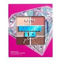 NYX 6 PAN SHADOW PLT- DIAMOND DELIRIOUS