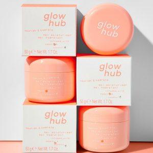 GLOW HUB Nourish & Hydrate Peach Gel Moisturiser