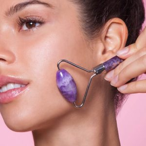 SKIN GYM  Amethyst Crystal Facial Roller