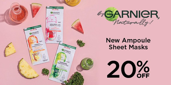 SKIN ACTIVE_20% OFF_NEW AMPOULE SHEET MASKS_600X300