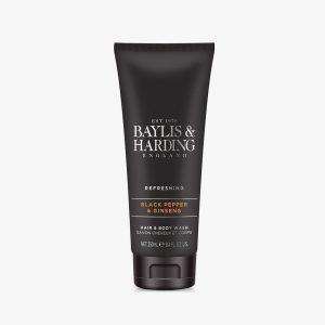 BAYLIS & HARDING Signature Black Pepper & Ginseng Hair & Body Wash  250Ml