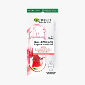 GARNIER SkinActive 1% Hyaluronic Acid + Watermelon Firming Ampoule Sheet Mask