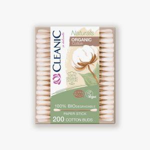 CLEANIC Biodegradable Cotton Buds x200 – 100% Organic Cotton