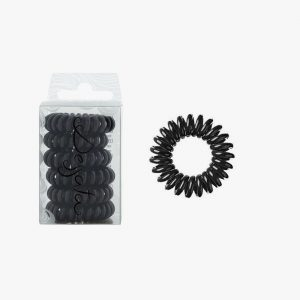 DESSATA Black Hair Ties X6