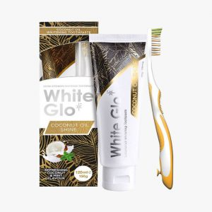 WHITEGLO Coconut Oil Shine T/Paste 120ml